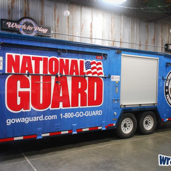 National Guard onsite marketing trailer